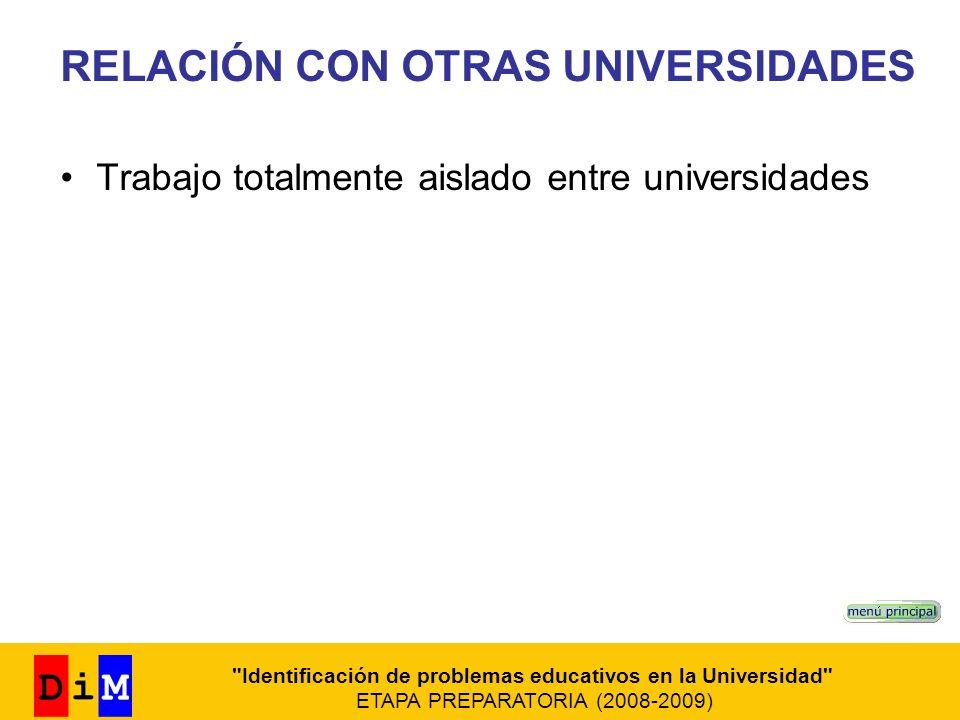 Identificación de problemas educativos en la Universidad