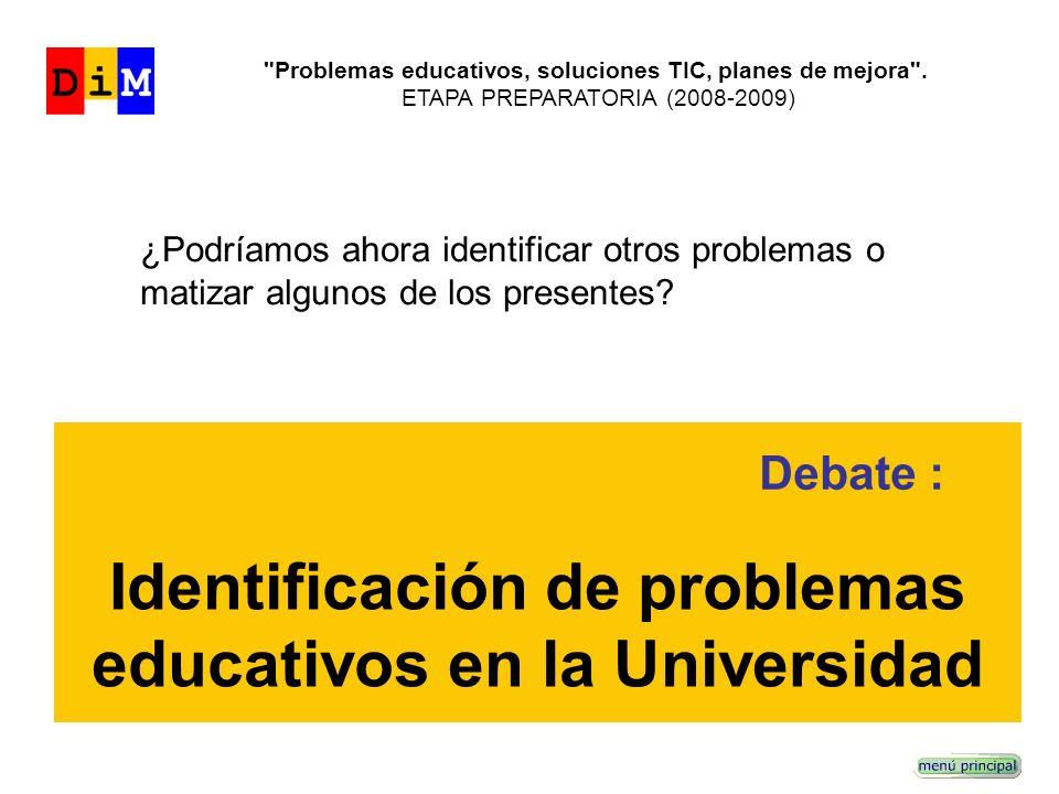 Problemas educativos, soluciones TIC, planes de mejora .