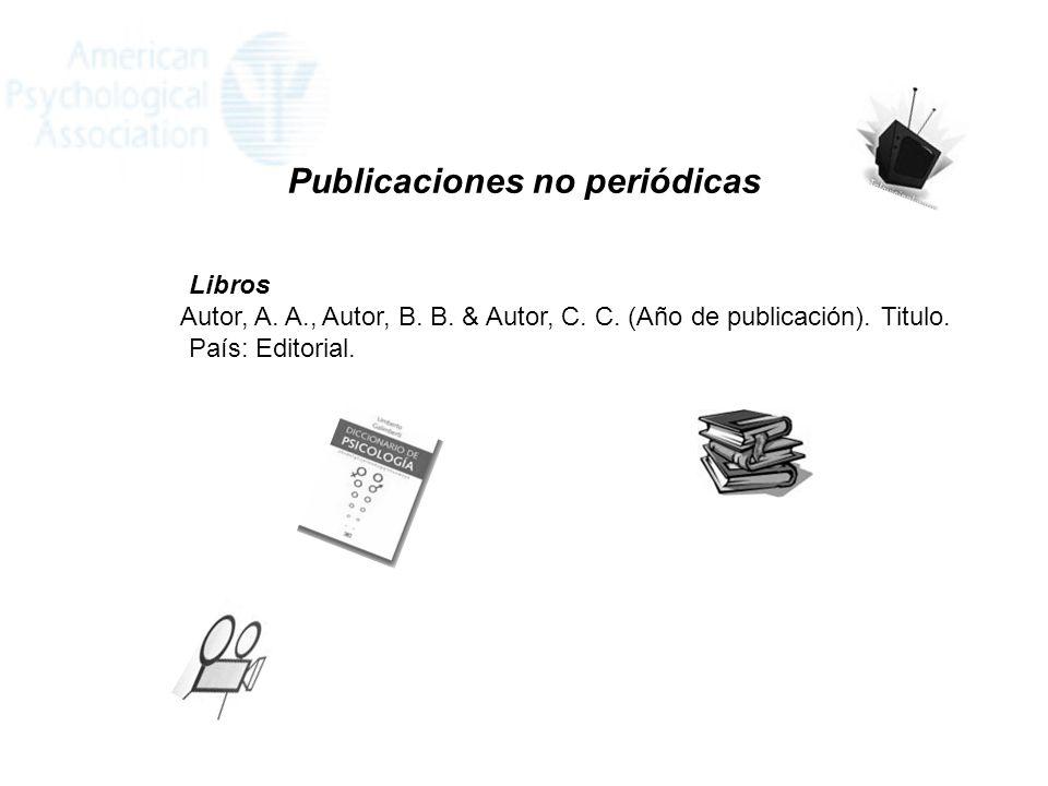 Publicaciones no periódicas