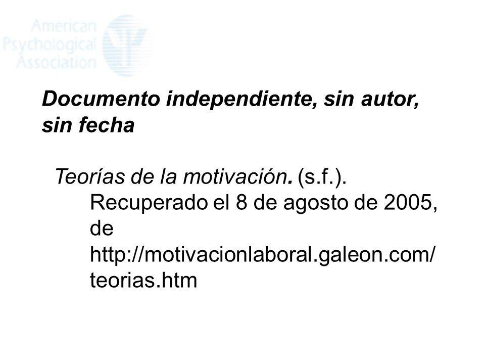 Documento independiente, sin autor, sin fecha