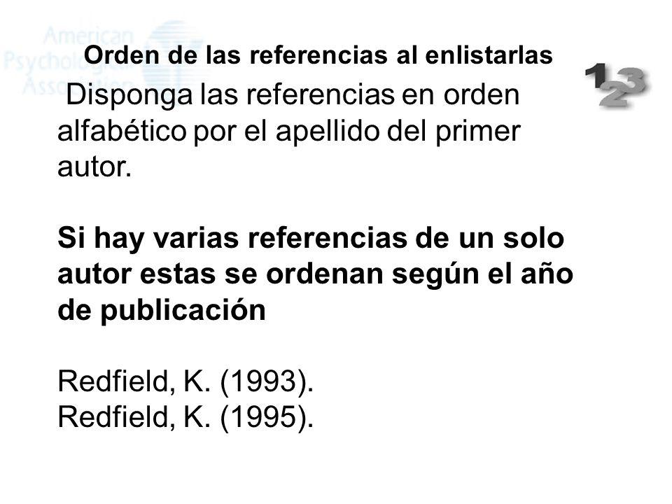Redfield, K. (1993). Redfield, K. (1995).