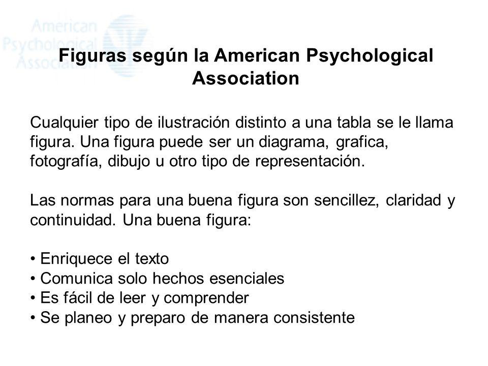 Figuras según la American Psychological Association