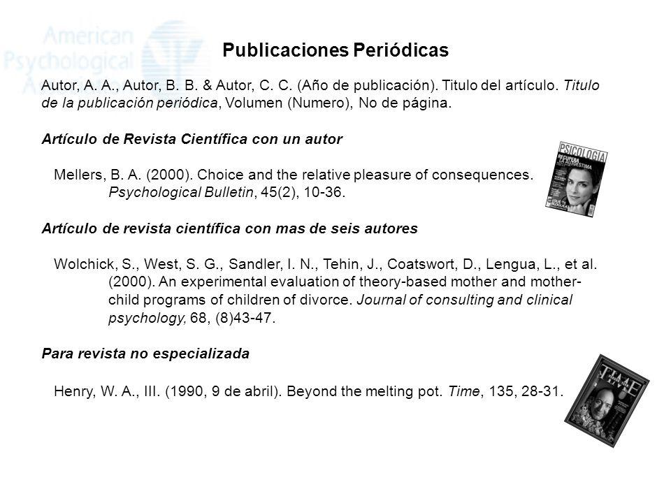 Publicaciones Periódicas