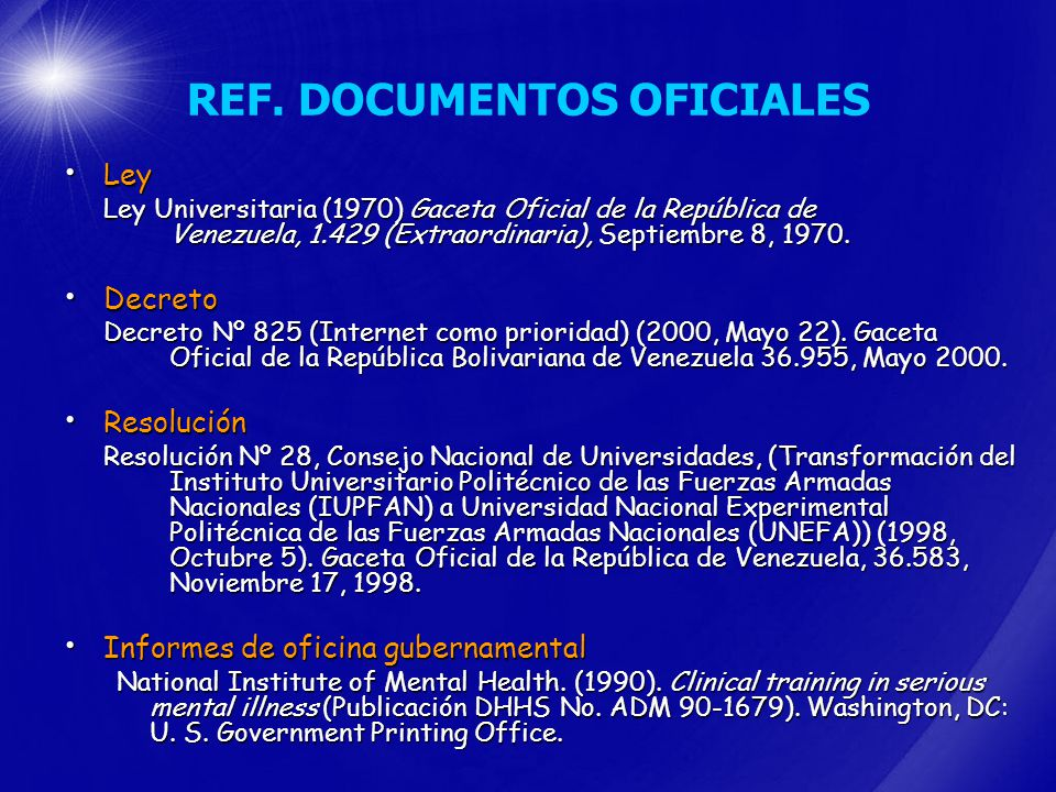 REF. DOCUMENTOS OFICIALES