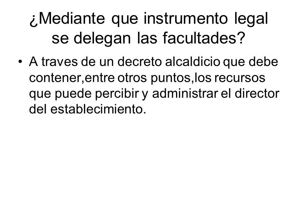 ¿Mediante que instrumento legal se delegan las facultades