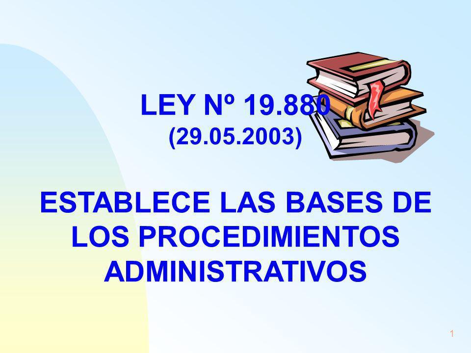 25/03/2017 LEY Nº 19.880 (29.05.2003) ESTABLECE LAS BASES DE LOS PROCEDIMIENTOS ADMINISTRATIVOS