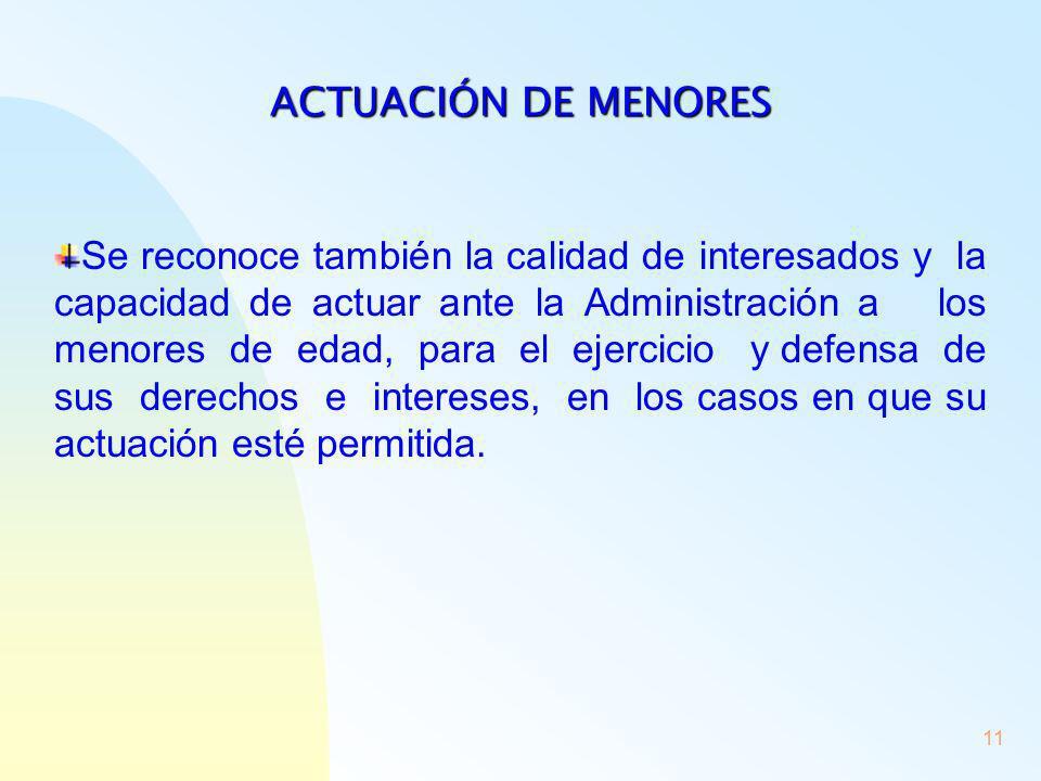 ACTUACIÓN DE MENORES