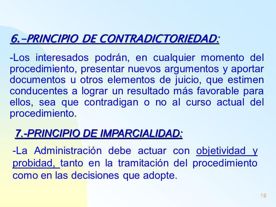 6.-PRINCIPIO DE CONTRADICTORIEDAD: