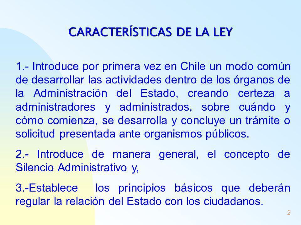 CARACTERÍSTICAS DE LA LEY
