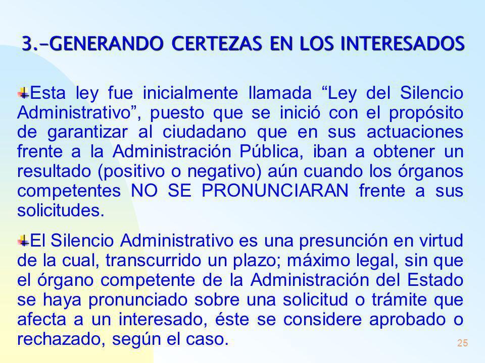 3.-GENERANDO CERTEZAS EN LOS INTERESADOS