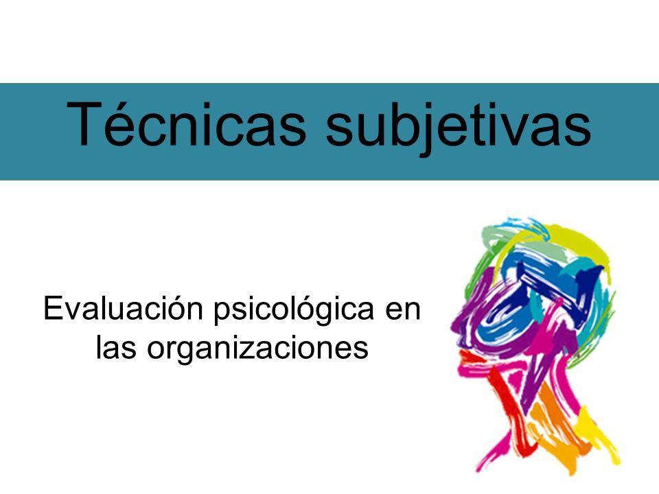 Evaluación psicológica en las organizaciones