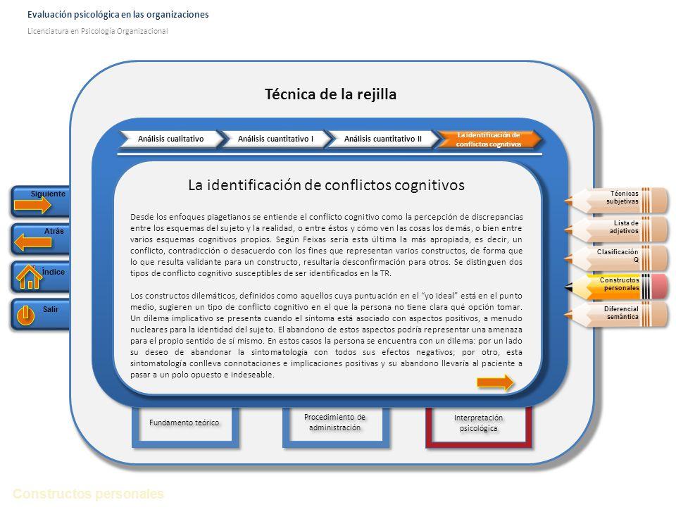 La identificación de conflictos cognitivos