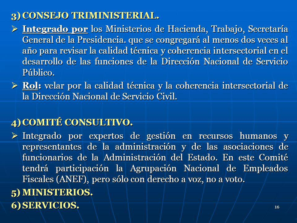 3) CONSEJO TRIMINISTERIAL.