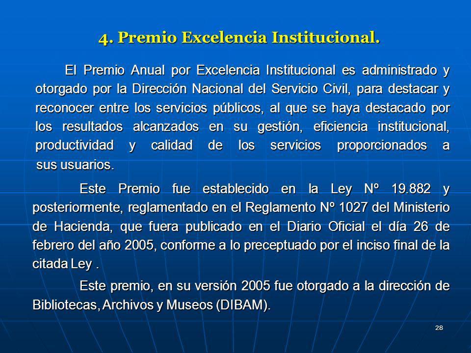 4. Premio Excelencia Institucional.
