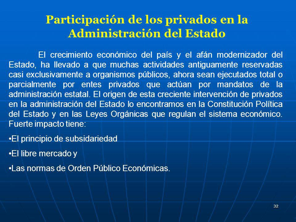 Participación de los privados en la Administración del Estado