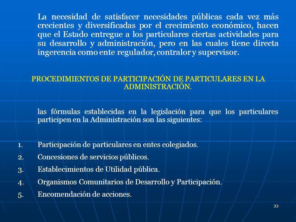 PROCEDIMIENTOS DE PARTICIPACIÓN DE PARTICULARES EN LA ADMINISTRACIÓN.