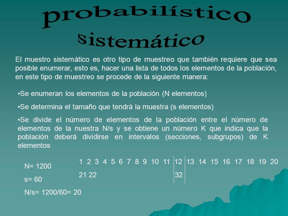 probabilístico sistemático