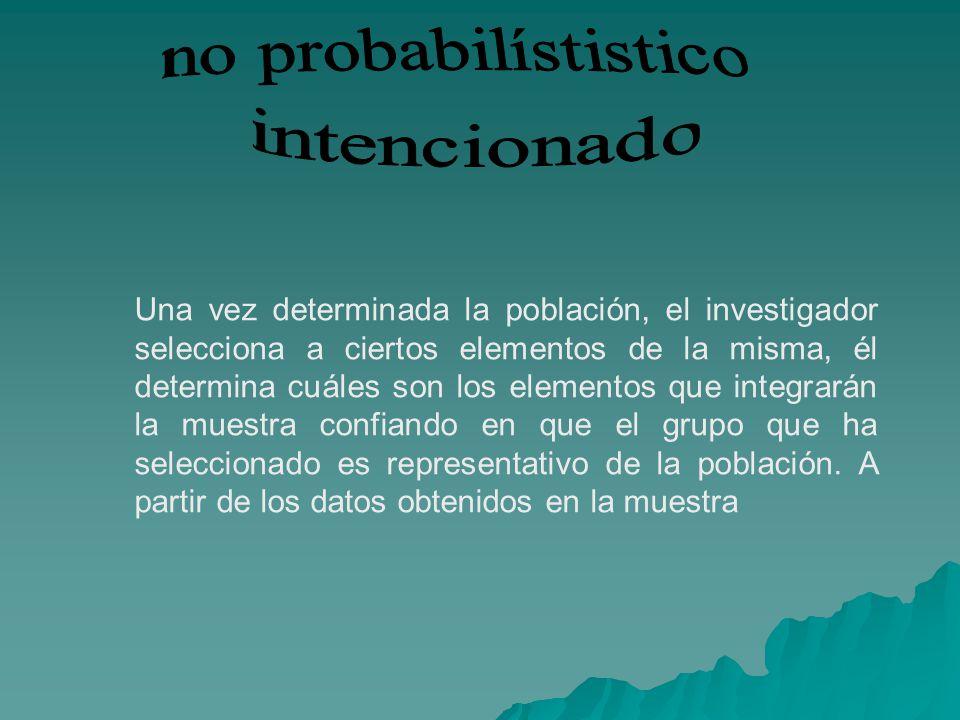no probabilístistico intencionado