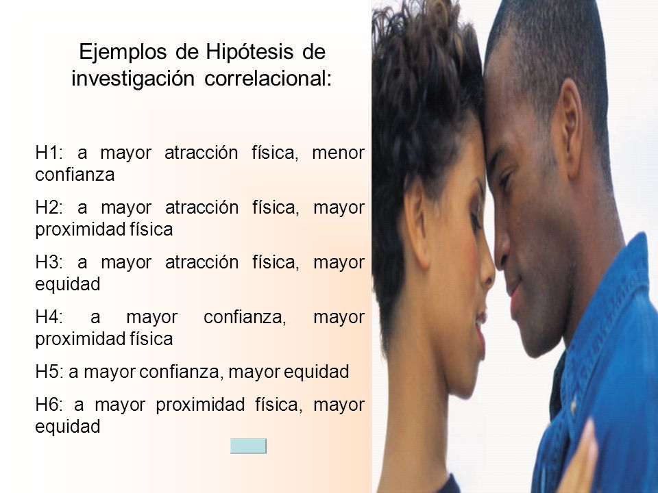 Ejemplos de Hipótesis de investigación correlacional: