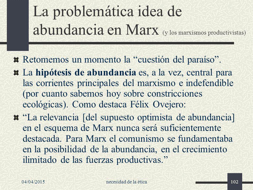 La problemática idea de abundancia en Marx (y los marxismos productivistas)