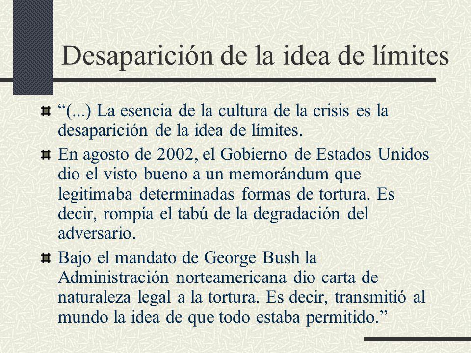 Desaparición de la idea de límites