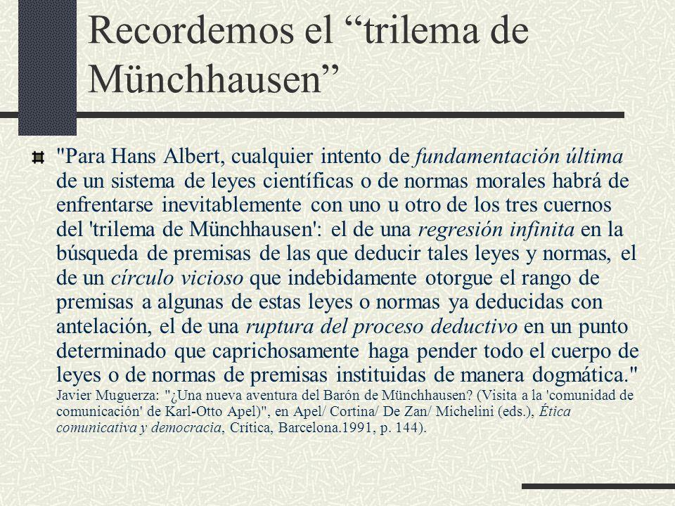 Recordemos el trilema de Münchhausen