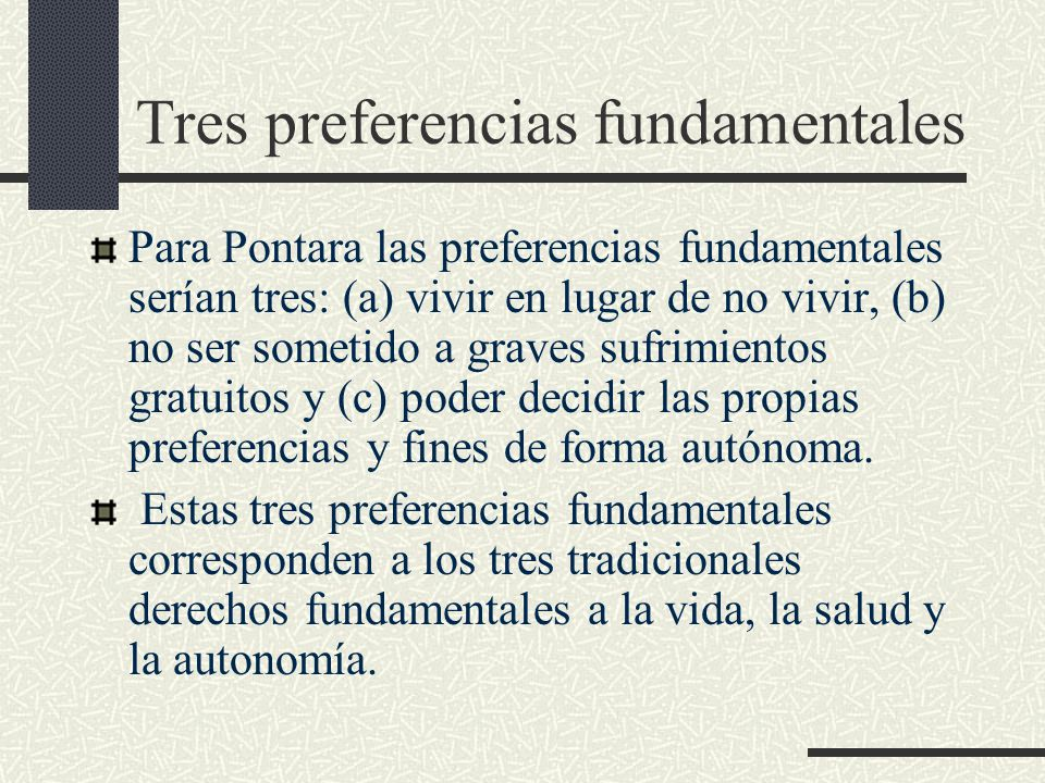 Tres preferencias fundamentales