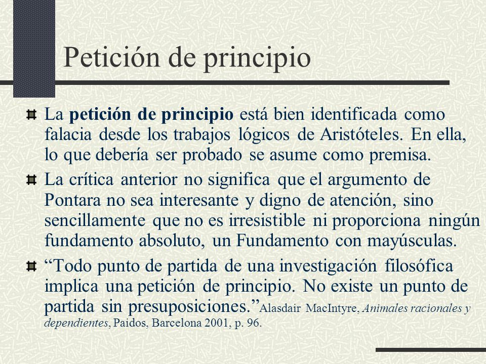 Petición de principio