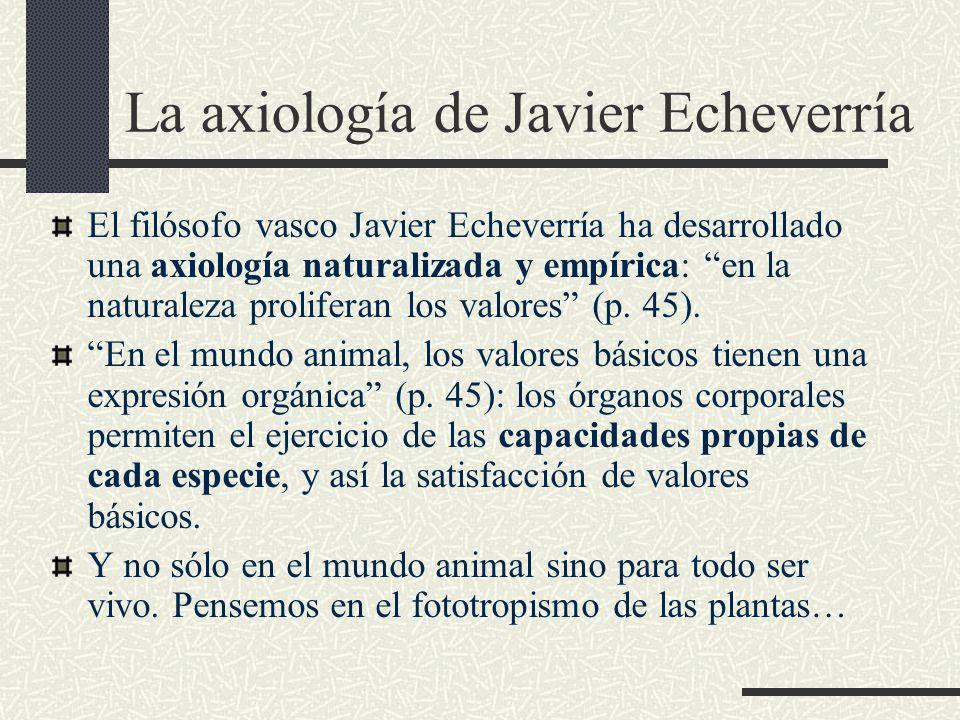 La axiología de Javier Echeverría