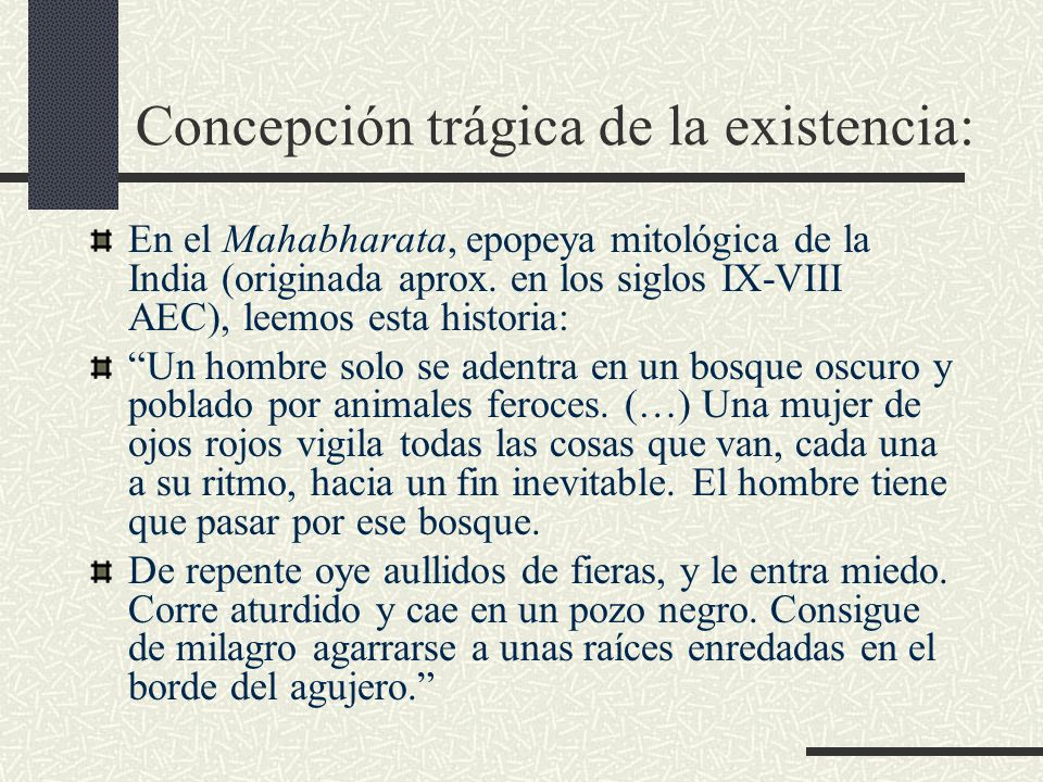 Concepción trágica de la existencia: