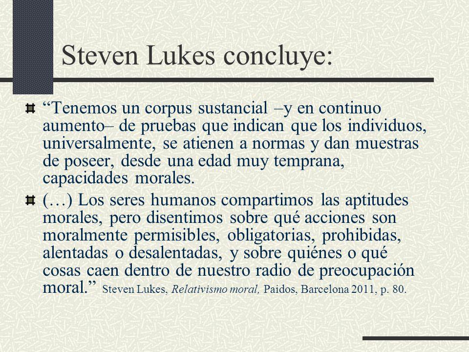 Steven Lukes concluye:
