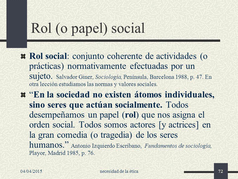Rol (o papel) social