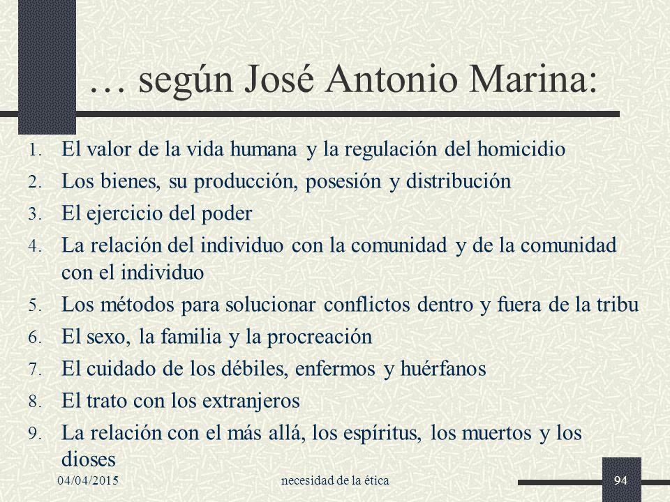 … según José Antonio Marina: