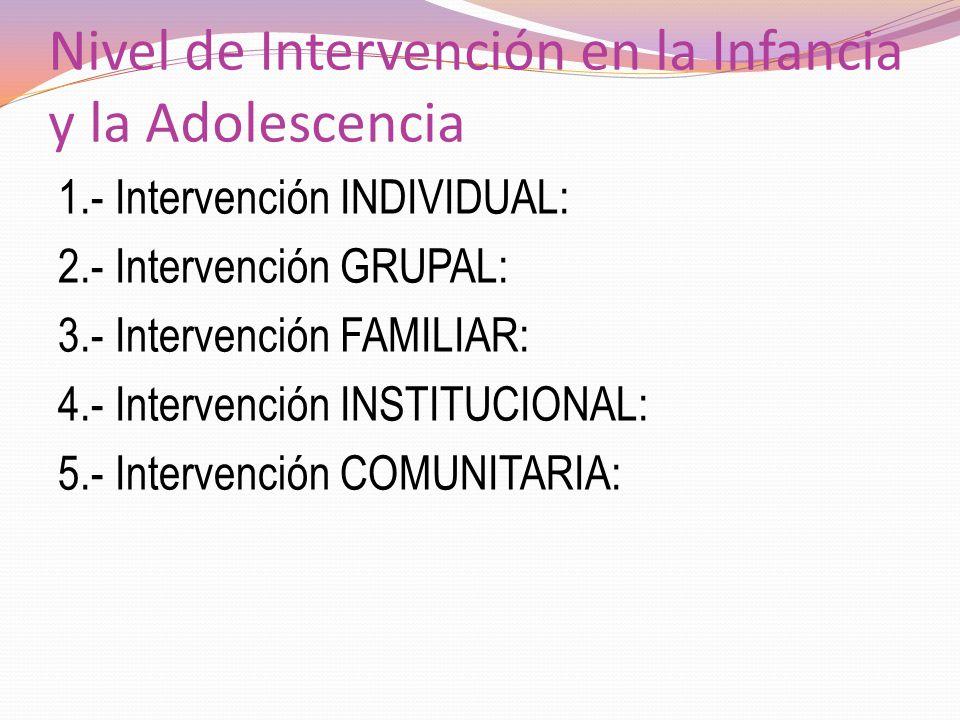 Nivel de Intervención en la Infancia y la Adolescencia