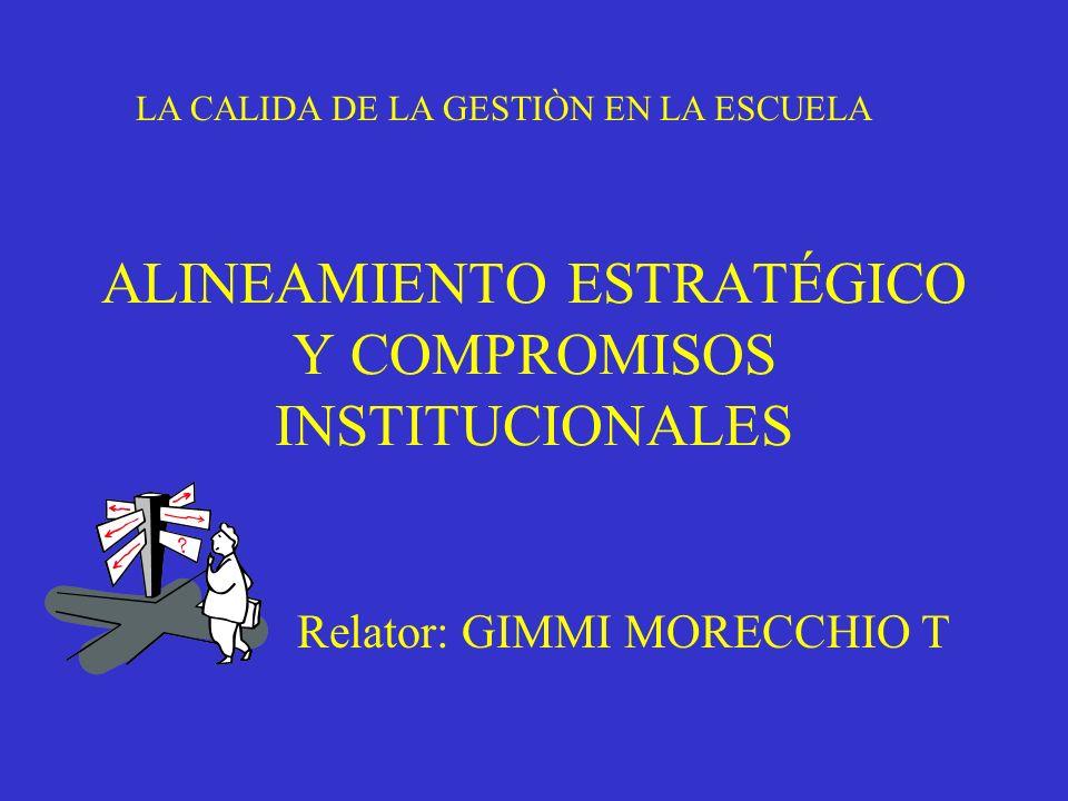 ALINEAMIENTO ESTRATÉGICO Y COMPROMISOS INSTITUCIONALES