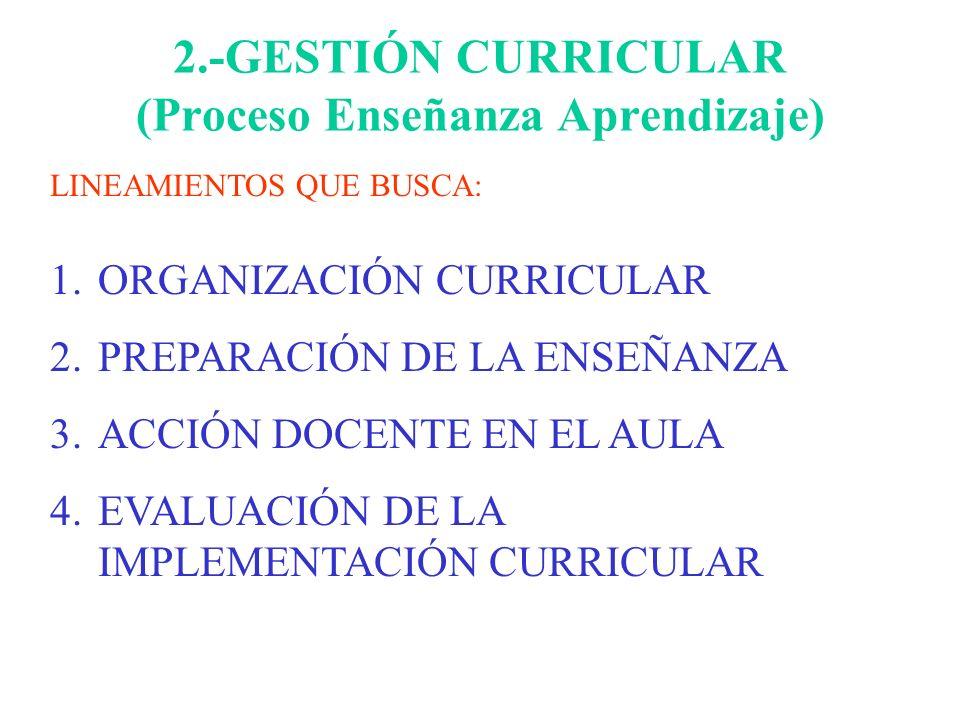 2.-GESTIÓN CURRICULAR (Proceso Enseñanza Aprendizaje)