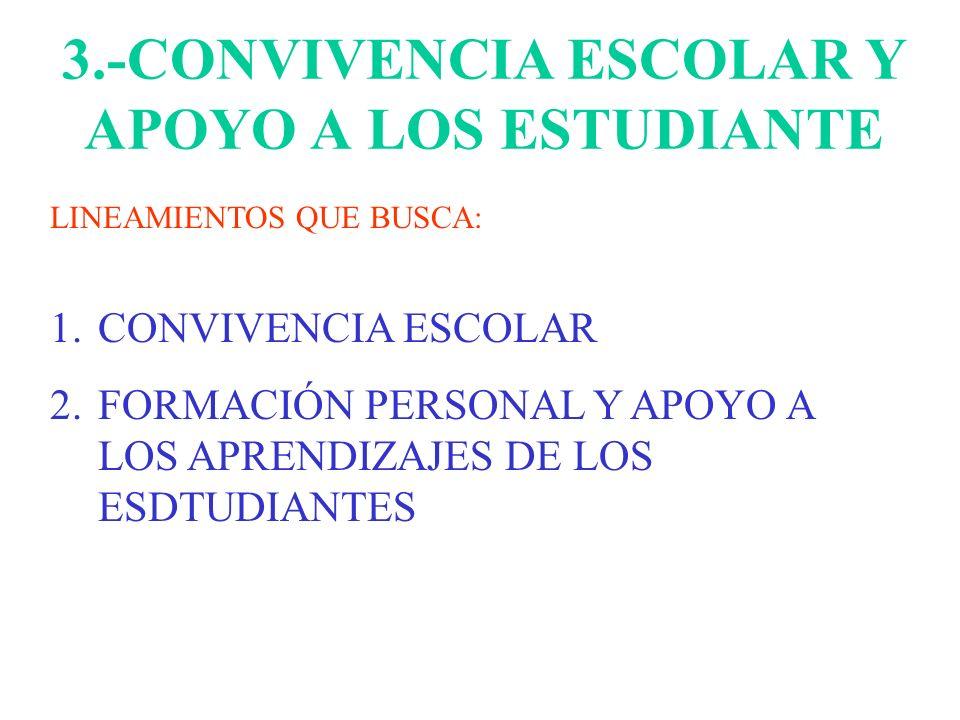 3.-CONVIVENCIA ESCOLAR Y APOYO A LOS ESTUDIANTE