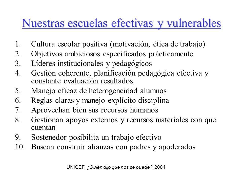 Nuestras escuelas efectivas y vulnerables