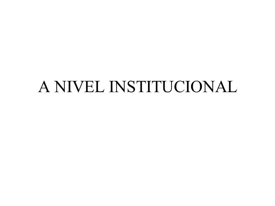 A NIVEL INSTITUCIONAL