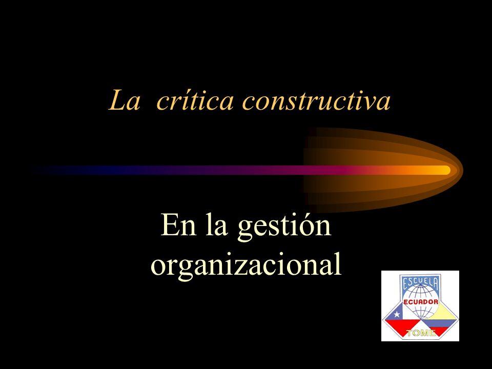 La crítica constructiva