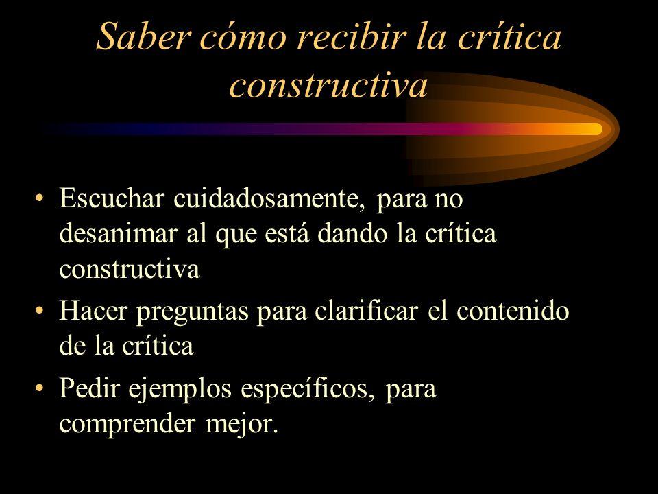 Saber cómo recibir la crítica constructiva