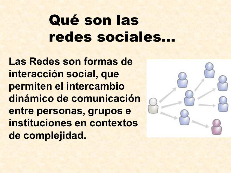 Qué son las redes sociales…
