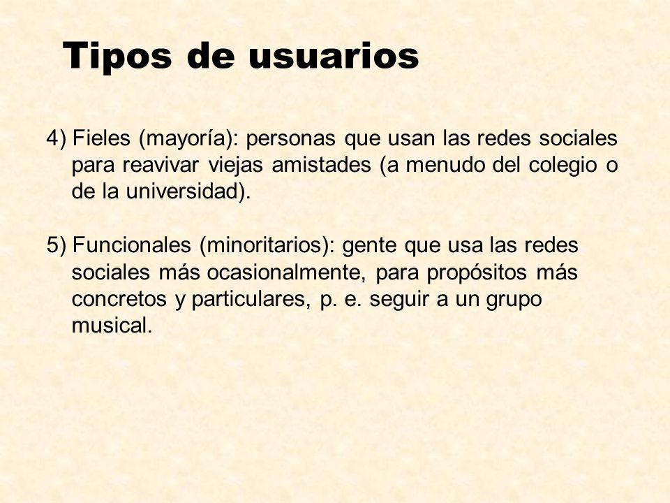 Tipos de usuarios