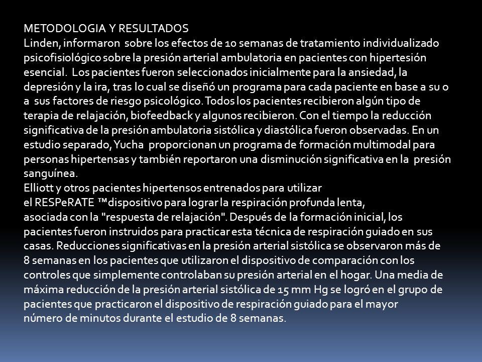 METODOLOGIA Y RESULTADOS