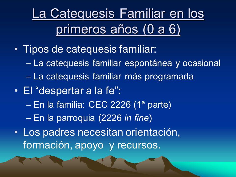 La Catequesis Familiar en los primeros años (0 a 6)