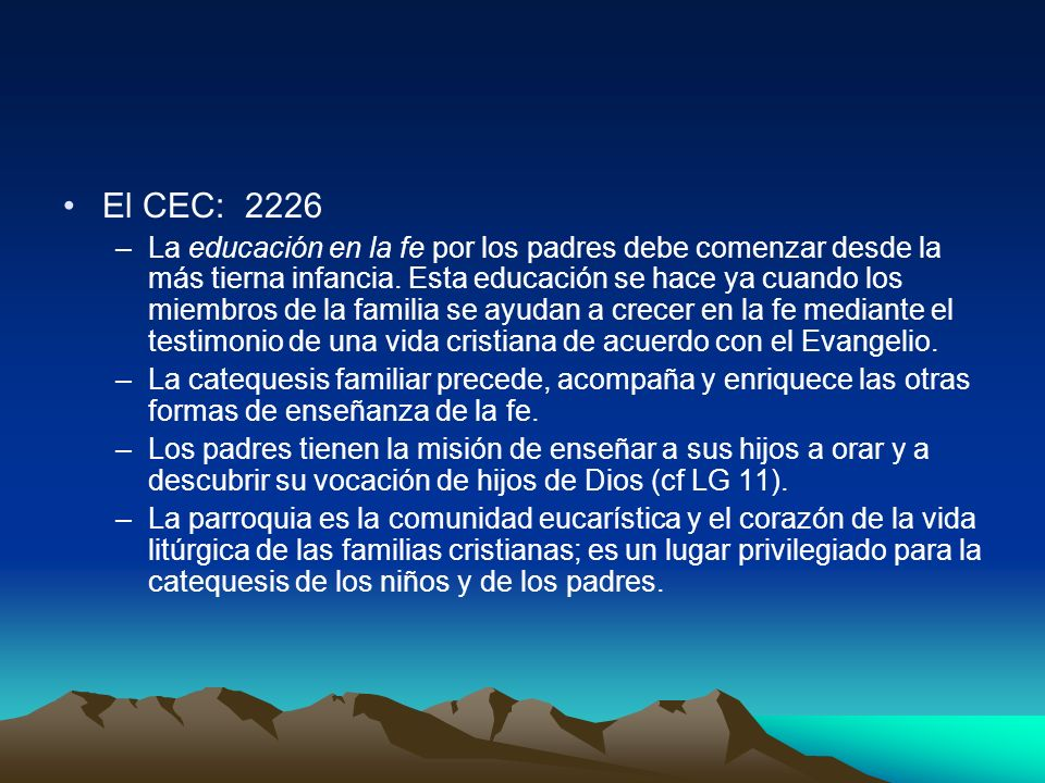 El CEC: 2226