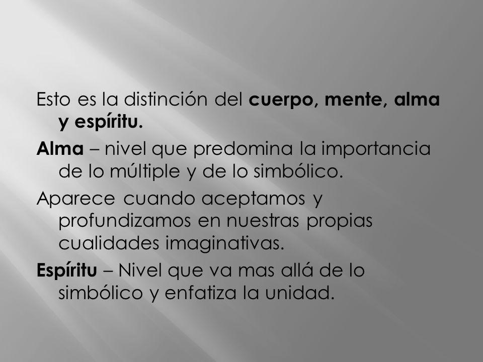 Esto es la distinción del cuerpo, mente, alma y espíritu