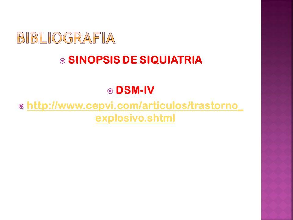 bibliografia SINOPSIS DE SIQUIATRIA DSM-IV