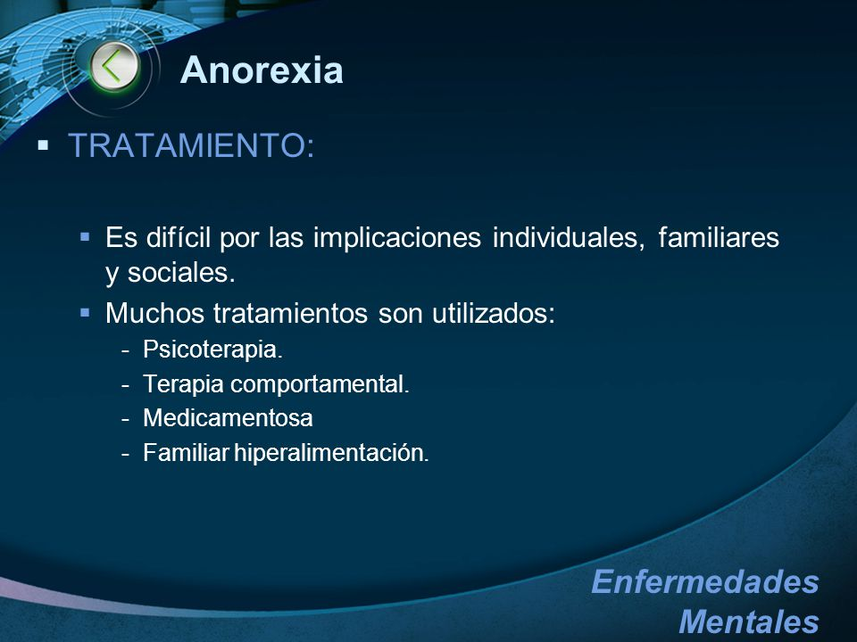 Anorexia TRATAMIENTO: