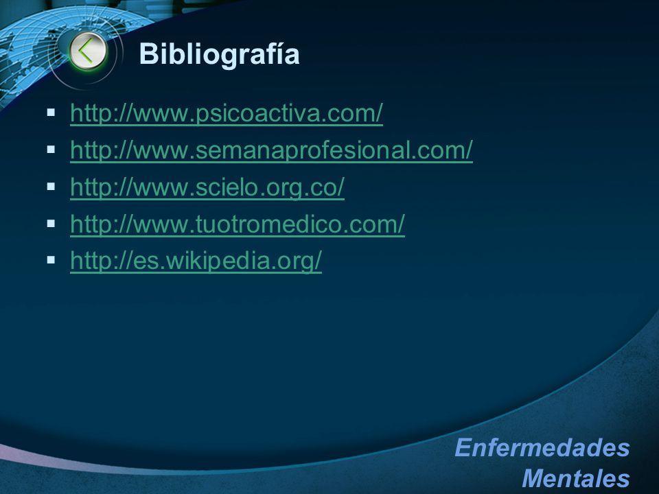 Bibliografía http://www.psicoactiva.com/